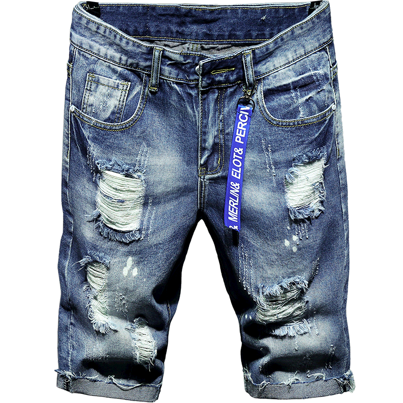 Cotton Slim Men Casual Shorts Pants Jeans Summer Thin Shorts Vintage Loose Stretch With Pockets Masculino Mens Clothing XX60MS