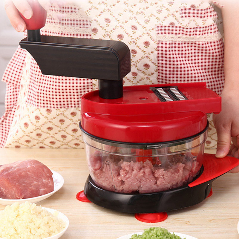 Meat Vegetables Manual Food Chopper Cutter Salad Maker Grinder Multifunction New