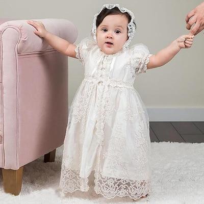 Infant Dress for Christening Girls Maxi Baby Girl Lace Dresses Baptism Birthday