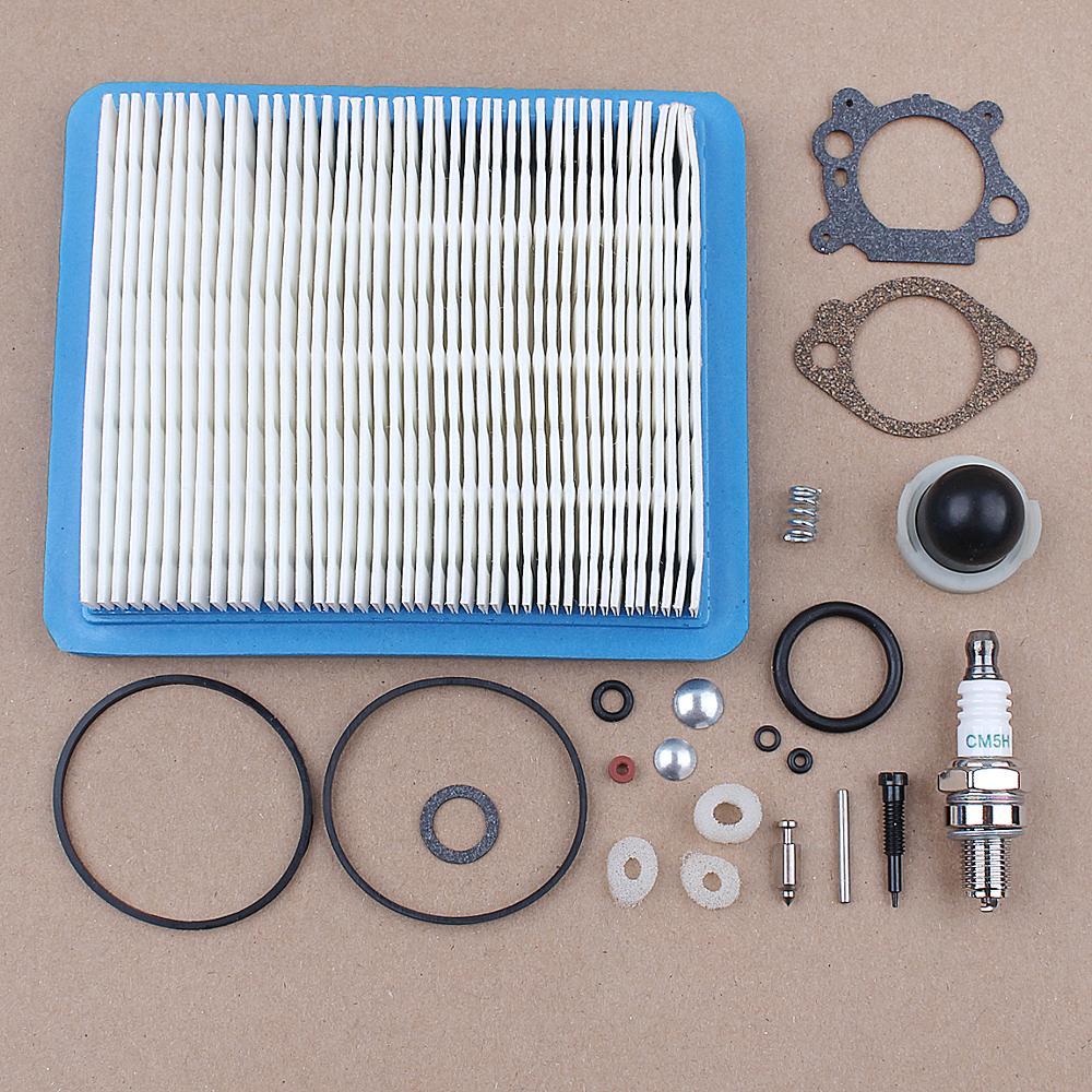Carburetor Repair Overhaul Kit Air Filter Primer Bulb For Briggs & Stratton 129H00 12A800 12B800 12C700 Lawn Mower