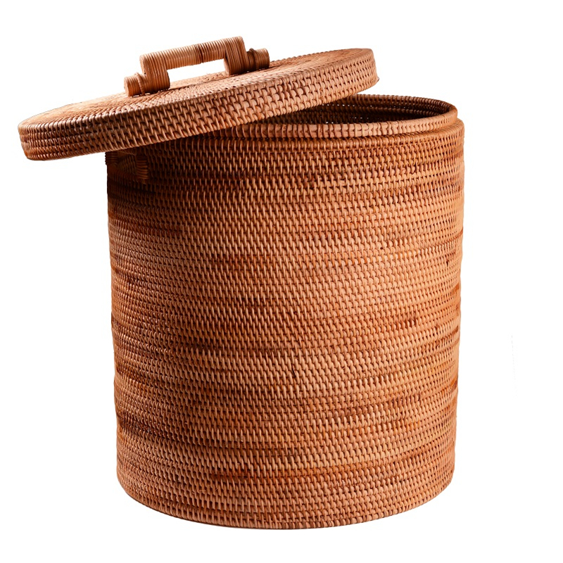 Rattan Laundry Bucket Hand Made Dirty Clothes Storage Toys Storage Large Kids Laundry Basket Organizer Interior Household Items