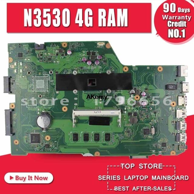 X751MA 4 núcleos rev2.0 para For Asus Laptop motherboard N3530 k751M K751MA R752M R752MA X751MD Teste motherboard teste 100% ok