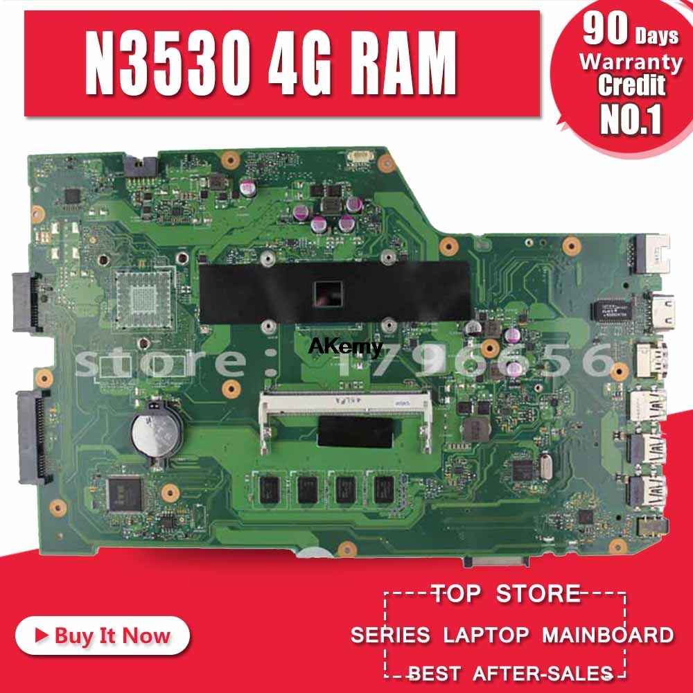 X751MA Laptop motherboard N3530 4 cores rev2.0 for ASUS k751M K751MA R752M R752MA X751MD Test mainboard motherboard test 100% ok-in Motherboards from Computer & Office