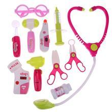 11 шт./компл. доктор инструменты девочка дети делать вид и играть звук обучения подарок игрушка