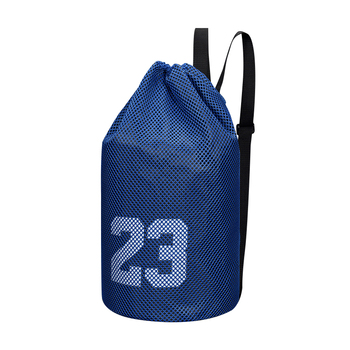 Basketball sports bags football volleyball soccer storage mesh bag fitness bucket bag outdoor basketball backpack for men image