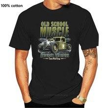 T Hemd im Braunton mit einem Hot Rod-UNS Auto-'50 Stylemotiv Modell Alten Schule