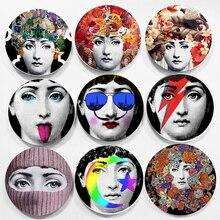 Настенные подвесные дамские тарелки для лица 6/7/8 дюймов, домашний декоративный фон для бара, декоративное художественное оформление, блюда,...