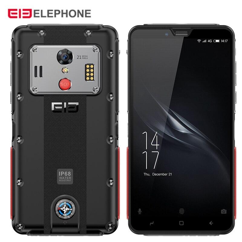 Original Elephone Soldier 4G Smartphone 5.5'' Android 8.0 MTK X25 4GB RAM 128GB ROM 21.0MP Rear Camera IP68 5000mAh Mobile Phone