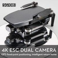 SG108 Drone GPS 4K HD Camera Quadcopter seguimi Brushless RC Drone Wifi FPV Dron professionale batteria lunga elicottero pieghevole