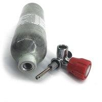 Ac3011911 acecare 1.1l pcp paintball cilindro de fibra carbono hpa tanque ar comprimido para a caça/tiro airsoft com válvula vermelha