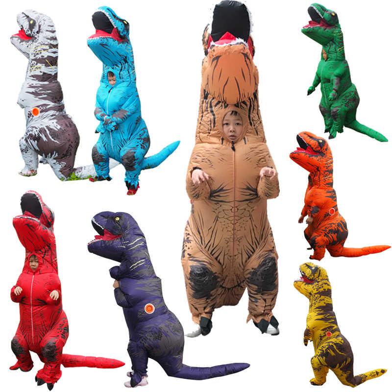 Erwachsene T Rex Kostüm Aufblasbare Dinosaurier Cosplay Anime Overall Geburtstag Geschenk Halloween Lustige Party Kostüm Für Kinder Dino Cartoon