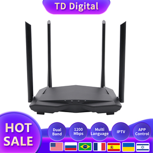 Image 1 - GC10 Wifi Repeater AC1200M Wireless WiFi Router with 2.4Ghz/5.0Ghz High Gain Antenna Home Coverage Dual Band ,Easy Setup