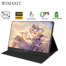 WIMAXIT 15.6 Portable Monitor Built in Battery USB C HDMI to