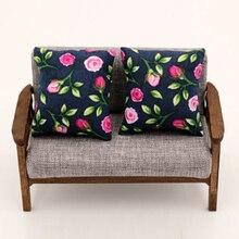 2 шт. нижняя подушка подушки для дивана кровать 1/12 кукольный домик Миниатюрный L: 4,3 W3.9 F