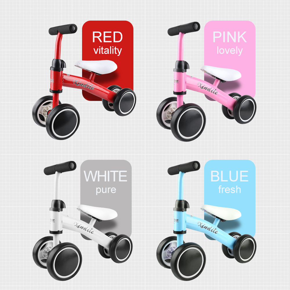 Xindile 12 Inch Toddler Bike No Pedals For 1 – 5 Year Old - Blue, Red, Pink, White 5