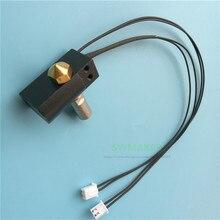 Wanhao duplicator 6 3d 프린터 예비 부품 d6 mk11 핫 엔드 키트 + 히터 카트리지 + pt100 열전쌍 세트