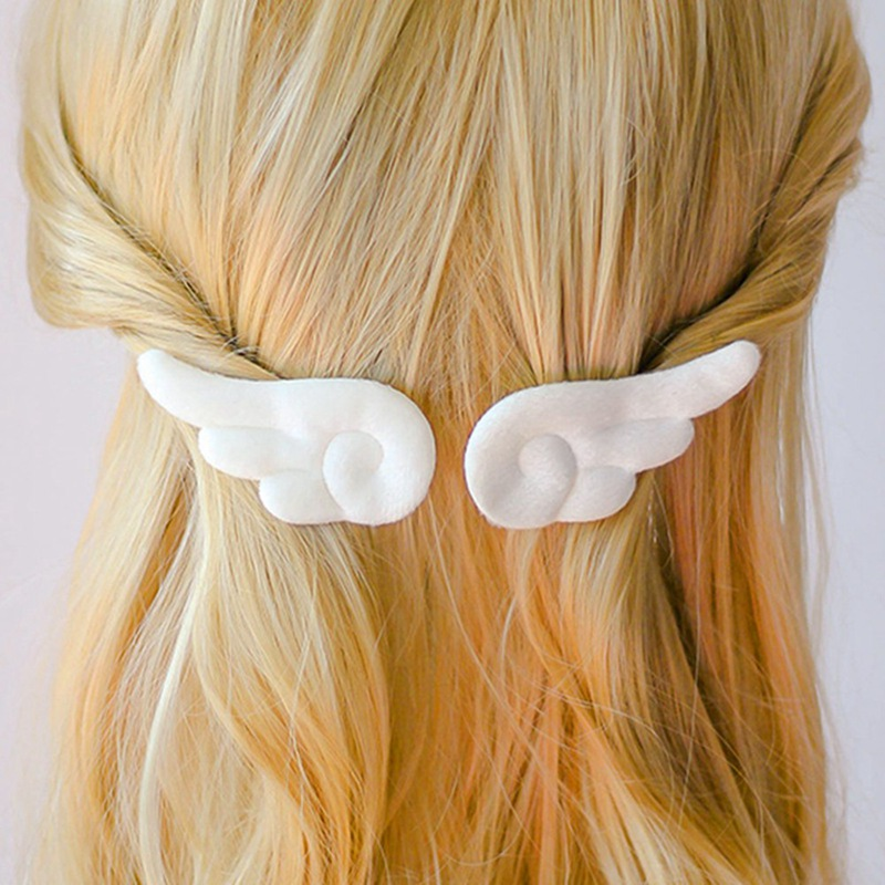 Anime Angel Wings Hair Accessories Set Girls Kids Cartoon Cute Plush  Girls Pins Hair Clips Barrettes Headdress Headwear Hairpin