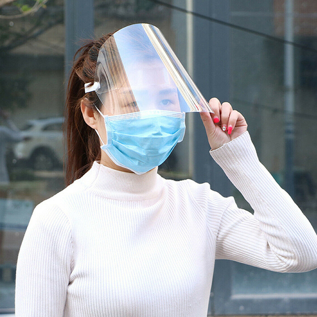 Transparent Protective Face Shield Kitchen Oil-Splash Proof Mask Creative Virus Protection Mask Anti-Saliva Windproof Masks 2