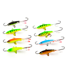 FTK 1PC 30g/93mm Ice Fishing Lures Winter Baits Lead Jigging Bait Hard bass Lure Balancer With Treble Hooks For Fish