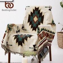 BeddingOutlet géométrie couverture aztèque Baja couverture ethnique canapé housse Boho décor jeter Cobertor tenture murale tapisserie