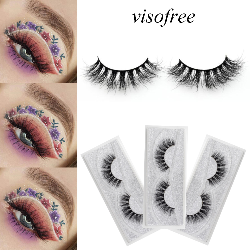 Lash Mink Eyelashes 3D Mink Hair Lashes Wholesale Real Mink Fur Handmade Crossing Lashes Thick Lash Makeup 23 Styles 1 Pair
