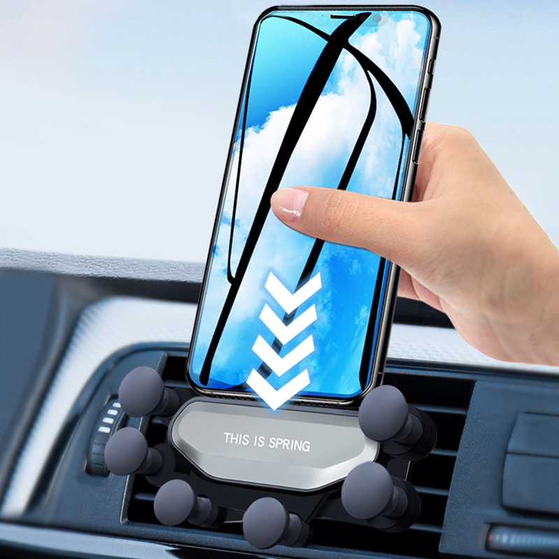 Gravity Car Phone Holder For IPhone Samsung Xiaomi Huawei Stand in Car Air Vent Clip Mount No Magnetic Mobile Phone Support