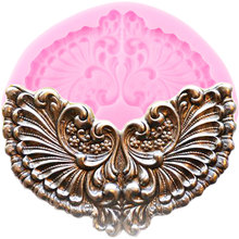 3D крылья медальон силиконовые формы для выпечки форма «Рама» рельеф помадка украшения торта инструменты Конфеты Форма для шоколада формы для мастики