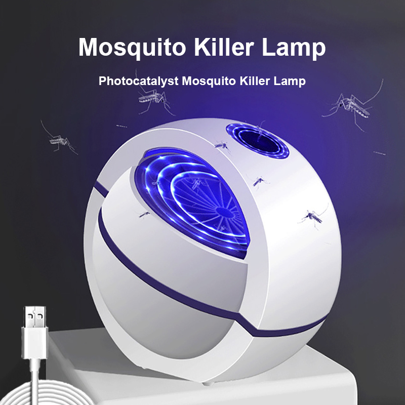 Hiyork Mosquito Killer Lamp USB Photocatalyst Fly Killer Lamp LED Inhalation Pest Killer Repellent Electric Trap Mosquito Lamp