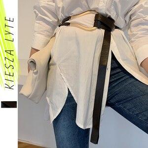 Image 1 - Ladies Metal Buckle Belt Luxury Casual Trendy Womens Clothing Accessories Belts for Dress&Blazer Cinturones Para Mujer