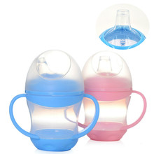 Duck Mouth Cup Baby Feeding Cup Children Learn Feeding Drinking Bottle with Handle Kids Training Cup(China)