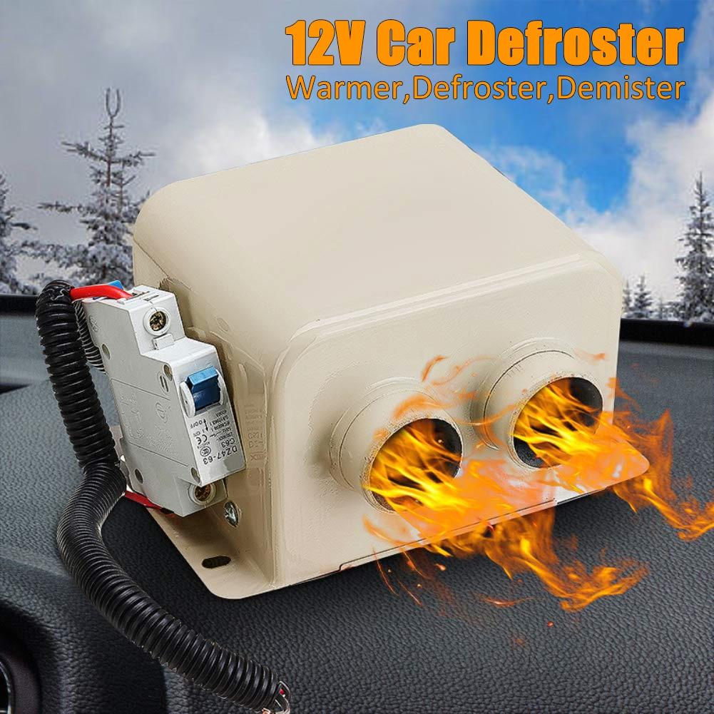 12V Auto tragbare elektrische Fensterheizung Heizung Trockner Windschutzscheibe Fan Defroster Demister Ever Auto Heizung Fan Defroster Demister Schwarz und Grau