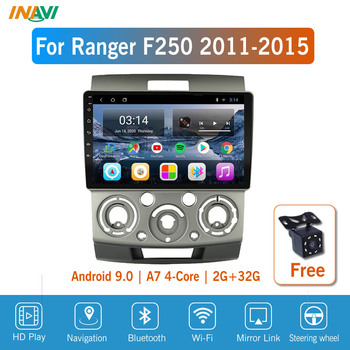 9'' IPS Android 9.0 Car Radio Multimedia For Ford Everest Ranger 2006-2010 GPS Navigation Navi Player Auto Stereo image
