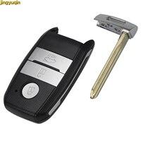 Jingyuqin 3 أزرار مفتاح بعيد قذيفة لكيا K3 K5 مع شفرة تقطيعه الذكية غطاء مفتاح السيارة فوب استبدال