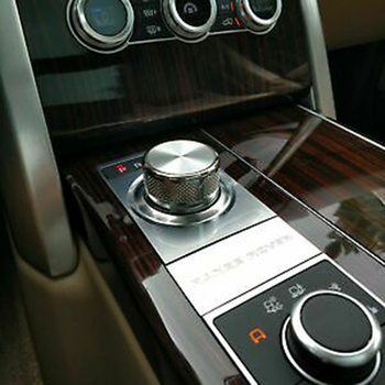 Rotary Knob Cover For Range Rover L405 Decor Easy Installtion Aluminum Alloy 1