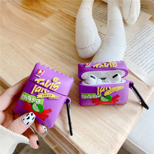 Image 5 - 3D Chips Earphone Case for AirPods 2 Pro Chip Cookies Box Soft Silicone Headphone Earphone Case for Airpods Pro Case Cover
