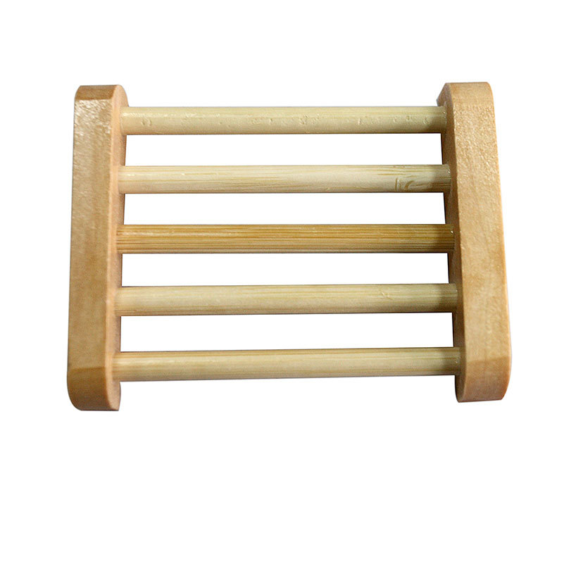 Wooden Natural Bamboo Soap Dish Wooden Soap Tray Holder Storage Soap Rack Plate Box Container For Bath Shower Plate