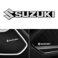 Autocollants 3D en aluminium pour haut-parleur de voiture, 4 pièces, pour Suzuki Jimny Samurai grand vitara sx4 swift Alto, accessoires