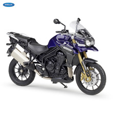 WELLY 1:18   TRIUMPH Tiger Explorer    Diecast Alloy Motorcycle Model Toy For Children Birthday Gift Toys Collection welly 1 18 yamaha yp240dx diecast alloy motorcycle model toy for children birthday gift toys collection