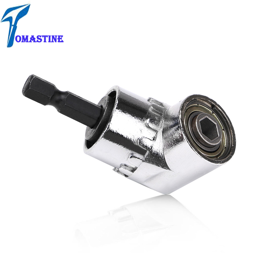 Right Angle Drill 105 Degree Right Angle Driver Angle Extension Power Screwdriver Drill Attachment 1/4inch Hex Bit Drill Bit