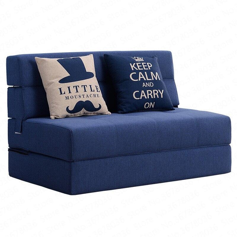 Folding Lazy Sofa Bed Tatami Hard Mattress Single Double Living Room Bedroom Study Small Apartment Space Saving