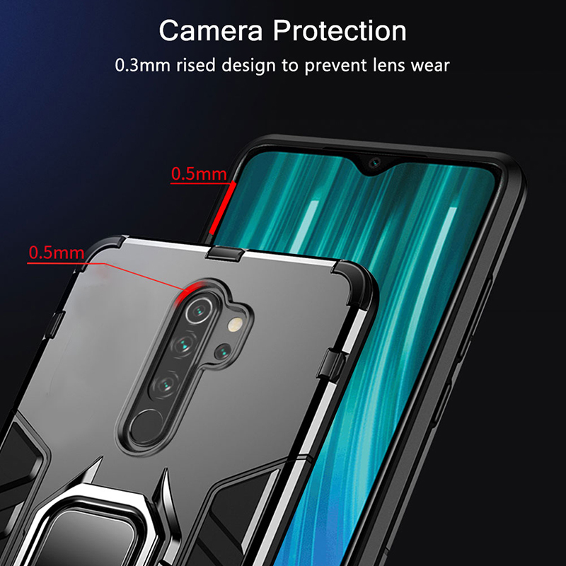 KEYSION Shockproof Case for Redmi 9A 9C Note 8 Pro in Accra, Ghana 4