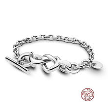 2020 echt 925 Sterling Silber Verknotet Herz Europa Original Armband Fit Frauen Perle Charme Armreif Geschenk DIY Schmuck Drop Verschiffen
