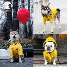 Cão de estimação roupas para o grande cão jaqueta à prova de vento casaco à prova de chuva jaqueta ao ar livre cachorro esporte hoodies jaquetas popa perro