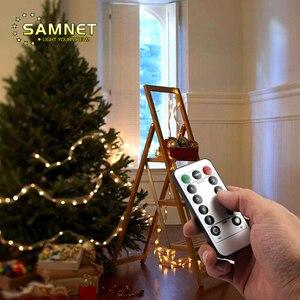 Новогоднее Рождественское украшение лампа медная проволока светодиодная гирлянда Сказочный светильник с пультом дистанционного управлен...
