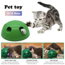 Cats Toy Cat Interactive Toys Pet Play Toys Non-slip 360 Degree Dome Shape Catch The Mouse Simulator Funny Game For Pet Cats shark bite game funny toys desktop fishing toys kids family interactive toys board game