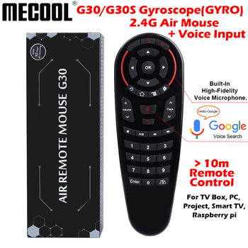 Mecool G30 S 33 keys IR learning remote control 2.4g air mouse wireless voice air mouse Gyro Sensing Smart remote to Game tv box
