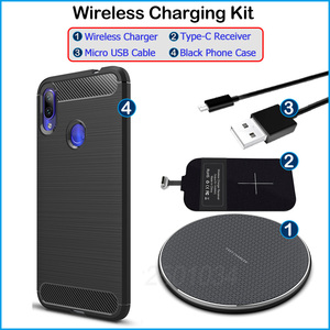 Image 5 - Install USB Type C Receiver Realize Wireless Charging for Xiaomi Redmi Note 7/Note 7 Pro Qi Wireless Charger + Adapter Gift Case