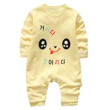 Casual Cartoon Baby Onesies Autumn Cotton Romper Boy Girls 3-12M Kids Clothes Infant Long Sleeve Jumpsuit Boys Girl Clothing цена 2017