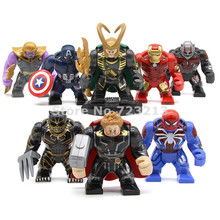 7 Centimetri di Trasporto Super Hero Figure Iron Man Capitan America Loki Thor Spiderman Mattoni Pantera Nera Thanos Building Block Giocattoli(China)