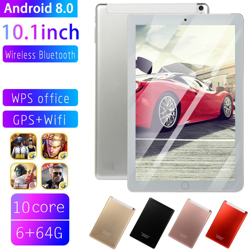 10 Inch Tablet Pc Quad Core  Original Powerful Android8.0 6GB RAM 64GB ROM IPS Dual SIM Phone Call Tab Phone Pc Tablets